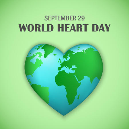 September world heart day concept background, realistic style