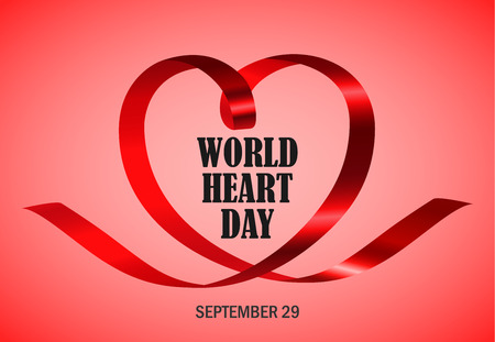 World heart day red concept background, realistic style Illustration