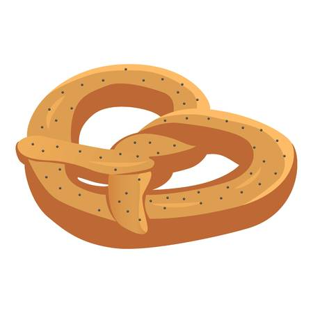 Pretzel icon. Isometric of pretzel vector icon for web design isolated on white background