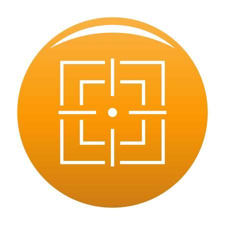 Focusing icon vector orange