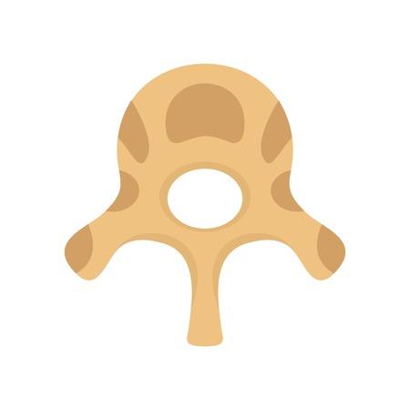 Vertebra disc icon. Flat illustration of vertebra disc icon for web isolated on white Stok Fotoğraf