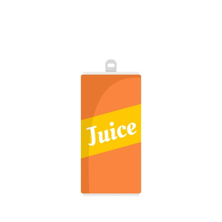 Juice can icon, flat style Imagens