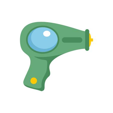 Water pistol icon. Flat illustration of water pistol icon for web isolated on white