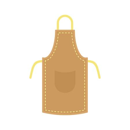 Leather apron icon, flat style Stock Photo