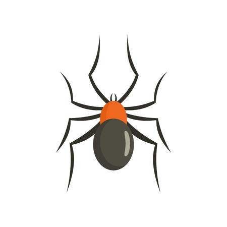 Male mouse spider icon. Flat illustration of male mouse spider icon for web isolated on white