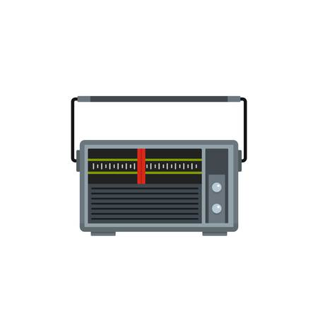 Red line radio icon, flat style Banque d'images