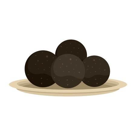 Sphere propolis icon, flat style Stock Photo