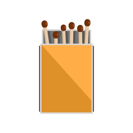 Pack of matches icon, flat style Imagens