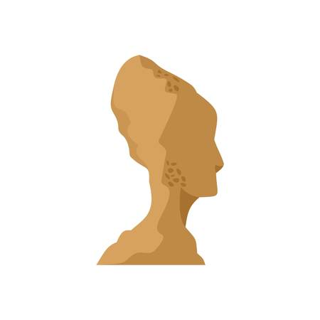 Head of statue icon, flat style Imagens