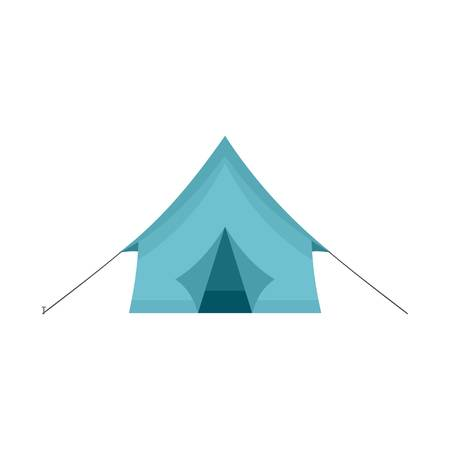 Camp tent icon, flat style
