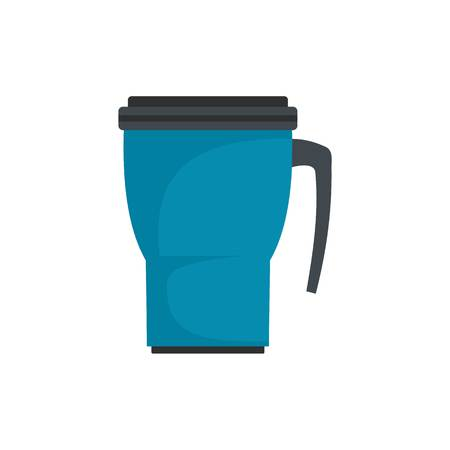 Thermo cup icon, flat style