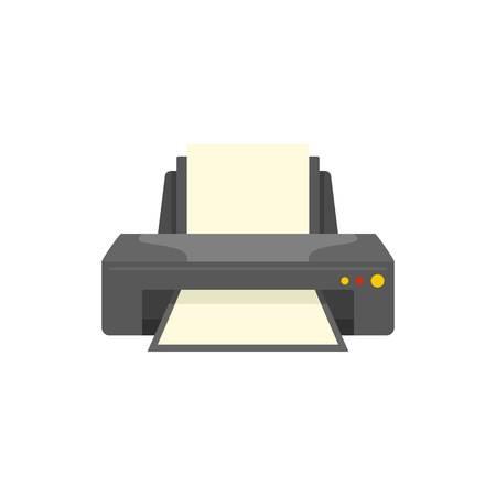 Jet printer icon, flat style 版權商用圖片