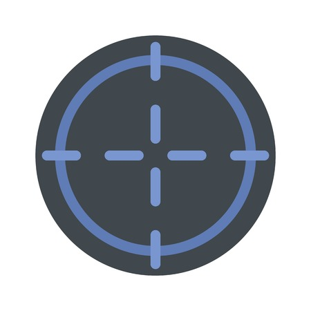 Sniper target icon, flat style