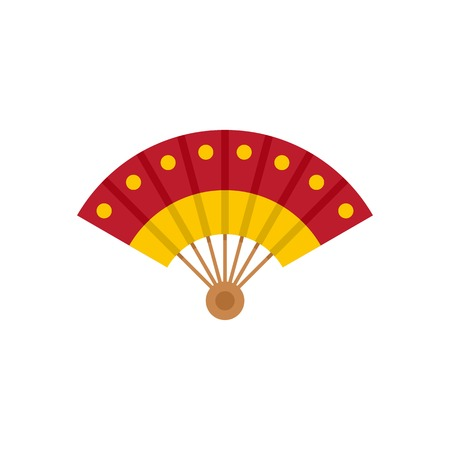 Hand fan icon, flat style