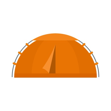 Hiking tent icon, flat style