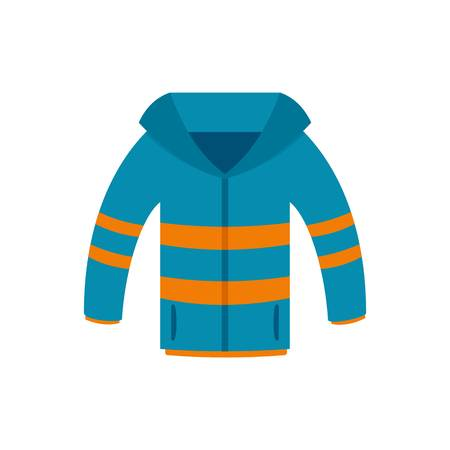 Winter jacket icon, flat style Stock Photo