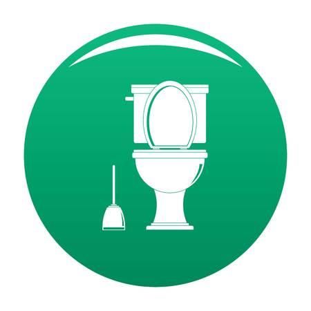 Comfort toilet icon vector green Illustration
