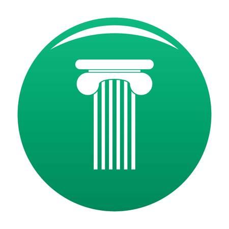 Top column icon vector green
