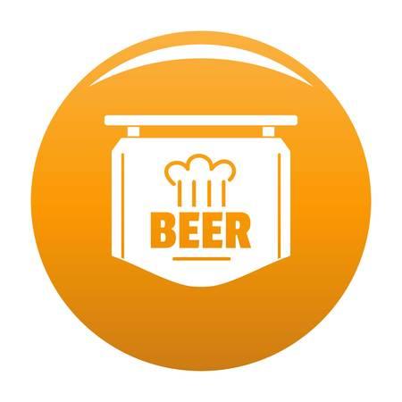 Label of beer icon vector orange
