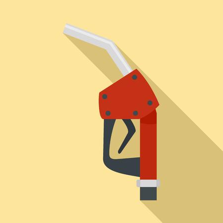 Refill fuel pistol icon. Flat illustration of refill fuel pistol icon for web design Stock Photo