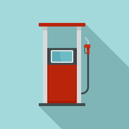 Fuel refill stand icon. Flat illustration of fuel refill stand icon for web design Stock Photo