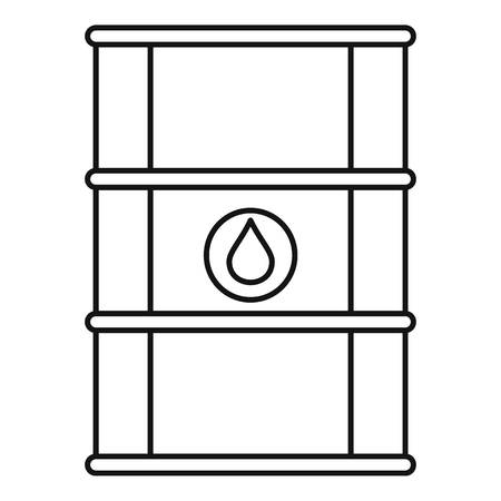 Petrol barrel icon. Outline petrol barrel icon for web design isolated on white background Foto de archivo