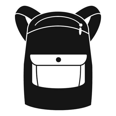 Emmo backpack icon. Simple illustration of emmo backpack icon for web design isolated on white background