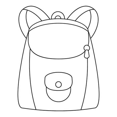 Modern backpack icon. Outline modern backpack icon for web design isolated on white background