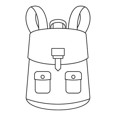 Haversack icon. Outline haversack icon for web design isolated on white background