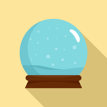 Snow glass ball icon. Flat illustration of snow glass ball icon for web design