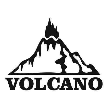 Fire volcano  simple style Foto de archivo