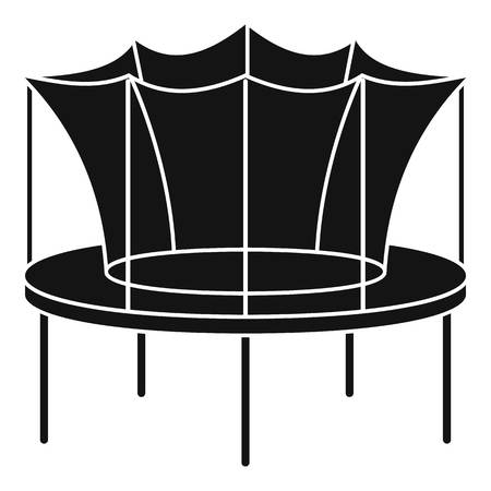 Kid trampoline icon, simple style