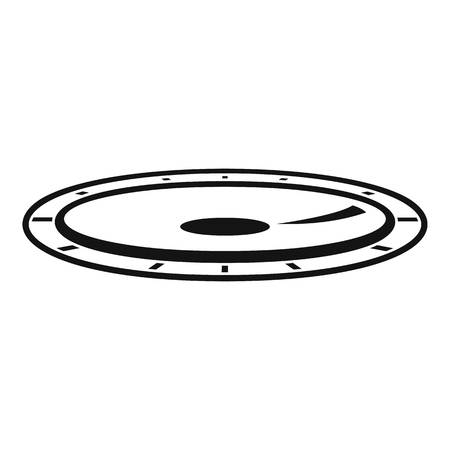 Amusement trampoline icon, simple style