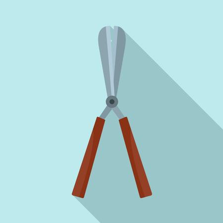 Scissors bush icon, flat style
