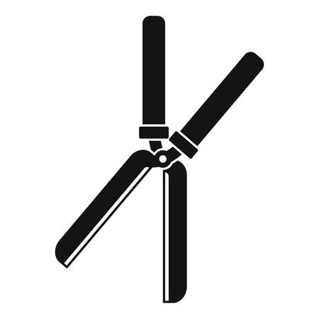 Farm scissors icon, simple style