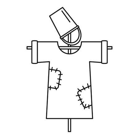 Garden scarecrow icon, outline style