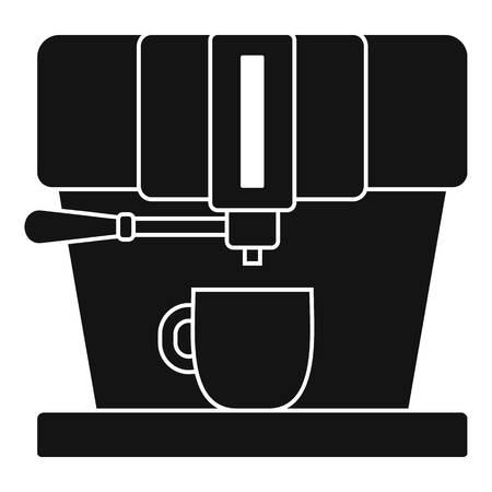 Modern coffee machine icon. Simple illustration of modern coffee machine icon for web design isolated on white background
