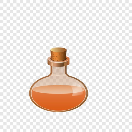 Glass bottle chemistry icon, cartoon style Stockfoto
