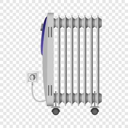 Portable heater mockup, realistic style