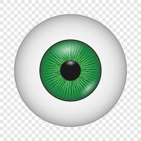 Human eye icon, realistic style