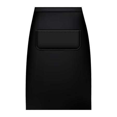 Black waist apron mockup, realistic style 版權商用圖片
