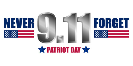 Never forget patriot day concept background, realistic style