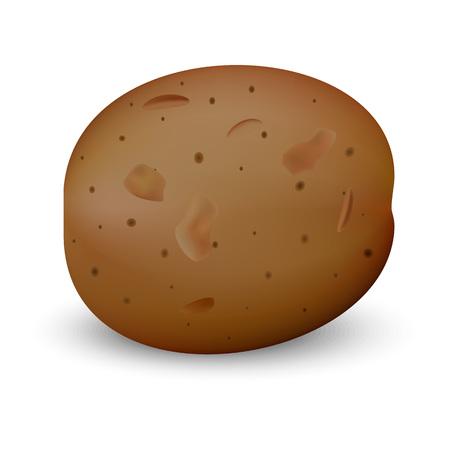 Brown potato mockup, realistic style