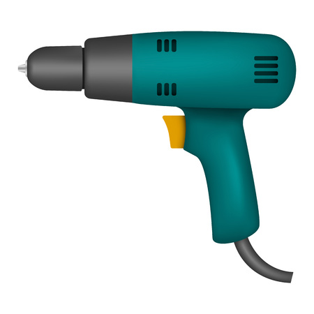 Electric drill mockup, realistic style