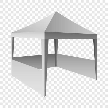 Folding tent mockup, realistic style Stockfoto
