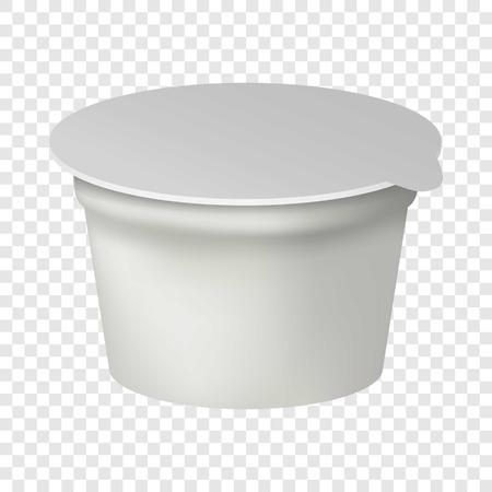 Milk box mockup, realistic style