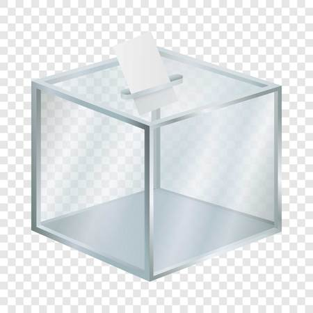 Empty election box mockup, realistic style Stockfoto - 107058751