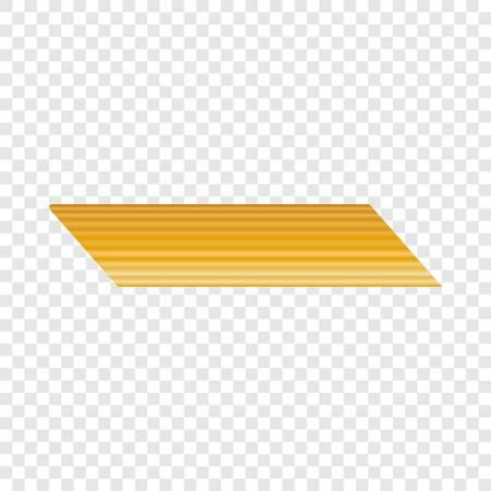 Penne rigate pasta icon, realistic style