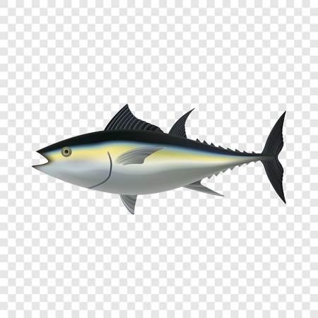 Tuna fish mockup, realistic style Foto de archivo