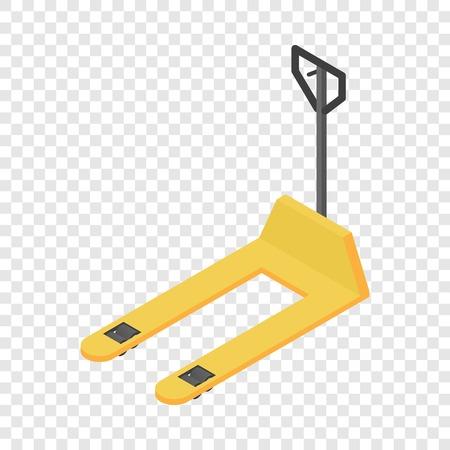 Icona del carrello elevatore del magazzino, stile isometrico